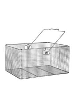 Проволочная лабораторная корзина из нержавеющей стали прямоугольная с ручкой BOCHEM, Германия