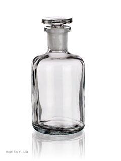 Пляшки для реактивів вузькогорлі, світле скло, Чехія