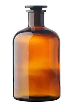 Пляшки для реактивів вузькогорлі, темне скло, Чехія