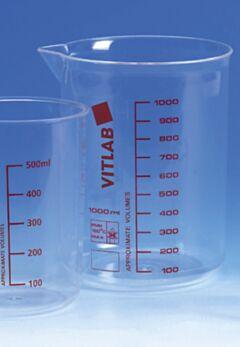 Склянка низька градуйована з ПМП VITLAB, Німеччина