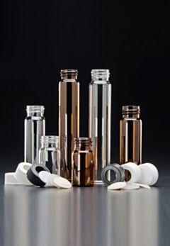 Виалы VOA Vials 20 ml с крышкой без отверстия Solid TOP и септой PTFE